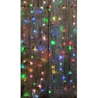 Guirlande De Noel BLACHERE Rideau 60 LED RGB - 2 x 2 m - Connectable 3 fois - Câble blanc 31V Blachere Illumination