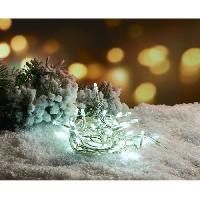 Guirlande De Noel Guirlande de Noël 100 LED intérieure clignotante 5 mm - L 3 m - Blanc chaud - Pile - Generique