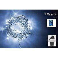 Guirlande De Noel Guirlande de Noël 120 LED extérieure - 5 mm x 6 m - Blanc froid Generique