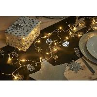 Guirlande De Noel Guirlande de Noël 20 LED blanc chaud en métal - L 40 cm - Argent ou doré - Generique