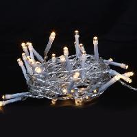 Guirlande De Noel Guirlande de Noël LED extérieure filaire PVC - 3 m - Blanc chaud - Electrique - Generique