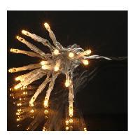 Guirlande De Noel Guirlande de Noël LED extérieure filaire plastique - 5 mm - Blanc chaud - Electrique Generique