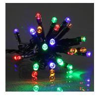 Guirlande De Noel Guirlande de Noël LED extérieure filaire plastique - 5 mm - Multicolore - Electrique - Generique