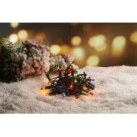 Guirlande De Noel Guirlande de Noël incandescente 50 ampoules - 6.25 m - Multicolore - Generique