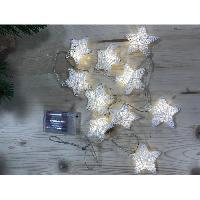 Guirlande De Noel Guirlande de Noël lumineuse intérieure Étoiles Blanc chaud L 145 cm - Christmas Dream