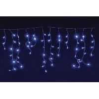 Guirlande Electrique Lumineuse D Exterieur CHRISTMAS DREAM Stalactite 128 LED bleu - 3.5 x 0.8 m - IP 44 - 31 V - 8 jeux de lumiere