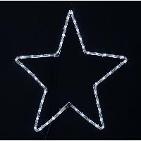 Guirlande Electrique Lumineuse D Exterieur Etoile lumineuse 48 LED 200x52 cm blanche