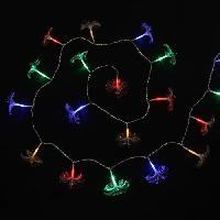 Guirlande Electrique Lumineuse D Exterieur Guirlande Bouquet FO - 32 LED multicolore - IP44 - 24V - 8 fonctions - Avec transfo - Fil transparent - L 4 m Generique