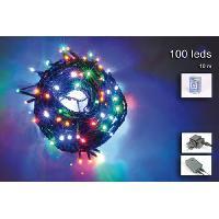 Guirlande Electrique Lumineuse D Exterieur Guirlande de Noel 100 micro-LED - 10 m - Multicolore