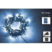 Guirlande Electrique Lumineuse D Exterieur Guirlande de Noel 60 LED exterieure - 5 mm x 3 m - Blanc