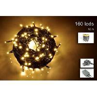 Guirlande Electrique Lumineuse D Exterieur Guirlande extérieure - 160 micro-LED blanc chaud - 16 m - Fil vert - Generique