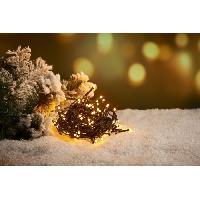 Guirlande Electrique Lumineuse D Exterieur Guirlande extérieure - 240 LED blanc chaud - 16 m - Fil vert - Generique