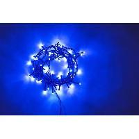 Guirlande Electrique Lumineuse D Exterieur Guirlande extérieure - 240 LED bleu - 12 m - Fil vert - Generique