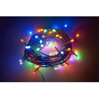 Guirlande Electrique Lumineuse D Exterieur Guirlande extérieure Cosmo - 80 LED multicolore - 10 m - Generique
