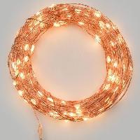 Guirlande Electrique Lumineuse D Exterieur LOTTI Guirlande lumineuse 30 micro-LED - Blanc chaud - Lumiere fixe et flashing selectionnable - 3 m