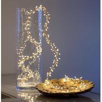 Guirlande Electrique Lumineuse D Exterieur LOTTI Guirlande lumineuse grappe - 300 micro-LED MiniCluster 5 cm - Blanc chaud - 2.5 m