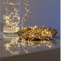 Guirlande Electrique Lumineuse D Exterieur LOTTI Guirlande lumineuse grappe - 600 micro-LED MiniCluster Ø5 cm - Blanc chaud - 5 m - Akasa