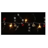 Guirlande Electrique Lumineuse Interieure Guirlande de Noel boules et etoiles - 10 LED blanc - L 1 m