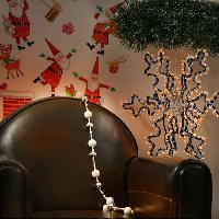 Guirlande Electrique Lumineuse Interieure Guirlande flocon lumineuse de Noel 3D bleu-blanc - Generique