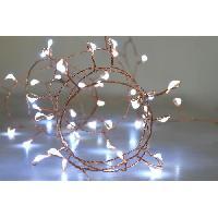 Guirlande Electrique Lumineuse Interieure Guirlande micro-LED - 2.5 m - Blanc pur - 50 LED - 16 fonctions memoire - Cable transparent cuivre