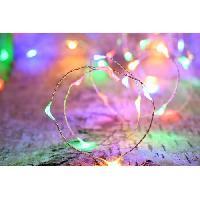 Guirlande Electrique Lumineuse Interieure Guirlande micro-LED - 4 m - Rouge .vert et bleu - 80 LED - 16 fonctions memoire - Cable transparent cuivre