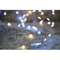Guirlande Electrique Lumineuse Interieure Guirlande micro-LED - 7.5 m - Blanc chaud et pur - 75 LED - 16 fonctions memoire - Cable transparent cuivre