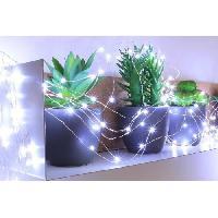 Guirlande Electrique Lumineuse Interieure Guirlande micro-LED - 7.5 m - Blanc pur - 150 LED - 16 fonctions memoire - Cable argent transparent