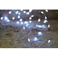 Guirlande Electrique Lumineuse Interieure Guirlande micro-LED - 7.5 m - Blanc pur - 150 LED - 16 fonctions memoire - Cable transparent cuivre - Generique
