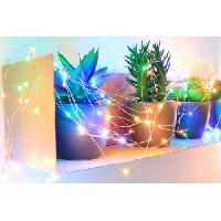 Guirlande Electrique Lumineuse Interieure Guirlande micro-LED - 7.5 m - Multicolore - 150 LED - 16 fonctions memoire - Cable argent transparent