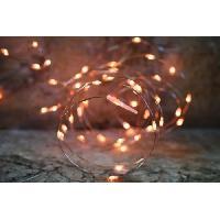 Guirlande Electrique Lumineuse Interieure Guirlande micro-LED - 7.5 m - Orange - 150 LED - 16 fonctions memoire - Cable transparent cuivre