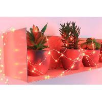 Guirlande Electrique Lumineuse Interieure Guirlande micro-LED - 7.5 m - Rouge - 150 LED - 16 fonctions memoire - Cable argent transparent - Generique