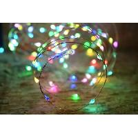 Guirlande Electrique Lumineuse Interieure Guirlande micro-LED - 7.5 m - Rouge. vert et bleu - 150 LED - 16 fonctions memoire - Cable argent transparent