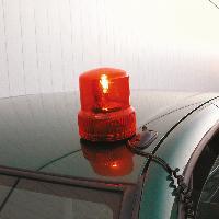 Gyrophares Feu avertissant 12V orange aimant - ADNAuto