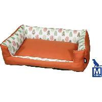 Habitat - Couchage AIME Panier pour Moyen et Grand Chien. Collection Sweet Tropical. Taille M 70X55CMcm. Coussin Rembourré Ultra Confortable Design Nat