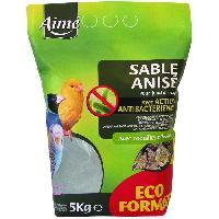 Habitat - Couchage AIME Sable anisé anti-bactérien - 5 kg - Pour oiseaux
