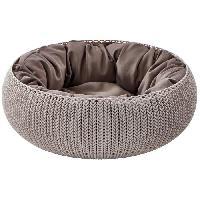 Habitat - Couchage CURVER Panier de couchage rond aspect tricot Cozy Pet Bed - Pour chat et chiot