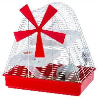 Habitat - Couchage Cage Magic Mill 46x29.5x46.5 cm - Blanc - Pour hamster