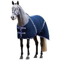 Habitat - Couchage Couverture cheval RugBe Classic - 125 cm - Bleu et lilas