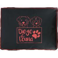 Habitat - Couchage DIEGO et LOUNA Matelas 80 x 60 x 8 cm - PM - Corail - Pour chien.