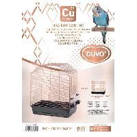 Habitat - Couchage DUVO+ Cage Copper Lexa 54 x 34 x 64.5 cm - 3.5 kg - Noir et cuivre - Pour oiseaux