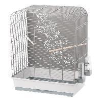 Habitat - Couchage DUVO+ Cage Zen Miki 54 x 34 x 65 cm - 4.27 kg - Gris clair et gris - Pour oiseaux
