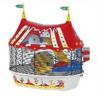 Habitat - Couchage FERPLAST Cage Circus Fun 49.5x34x42.5 cm - Rouge - Pour hamster