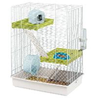 Habitat - Couchage FERPLAST Cage Hamster Tris - 46x29x58 cm - Blanc - Pour hamster