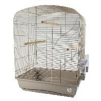 Habitat - Couchage LAROY DUVO Cage pour oiseaux Mocha Bella - 54 x 39 x 71 cm - Moka