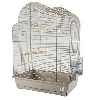 Habitat - Couchage LAROY DUVO Cage pour oiseaux Mocha Eliza - 54 x 34 x 75 cm - Moka