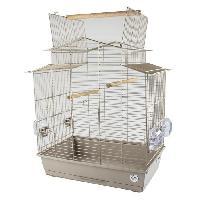 Habitat - Couchage LAROY DUVO Cage pour oiseaux Mocha Iza 3 - 58 x 38 x 65 cm - Moka