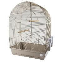 Habitat - Couchage LAROY DUVO Cage pour oiseaux Mocha Lusi 3 - 54 x 34 x 75 cm - Moka