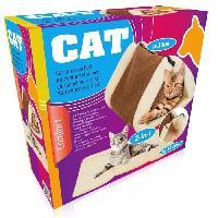 Habitat - Couchage Lit tunnel - Avec Zip pour usage en tapis - Dimension 90 x 56 cm - Pour chat - Aucune