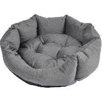 Habitat - Couchage Panier octogonal - Polyester - O 60 x 16 cm - Python gris - Pour chien