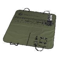 Habitat - Couchage Plaid pour sieges de voiture 150x145cm -Boarding pass -Army